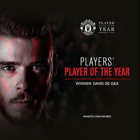 دي خيا افضل لاعب في صفوف مان يونايتد هذا العام 2014/2015