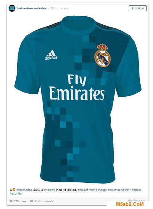 صورة قميص ريال مدريد الثالث الجديد 2017