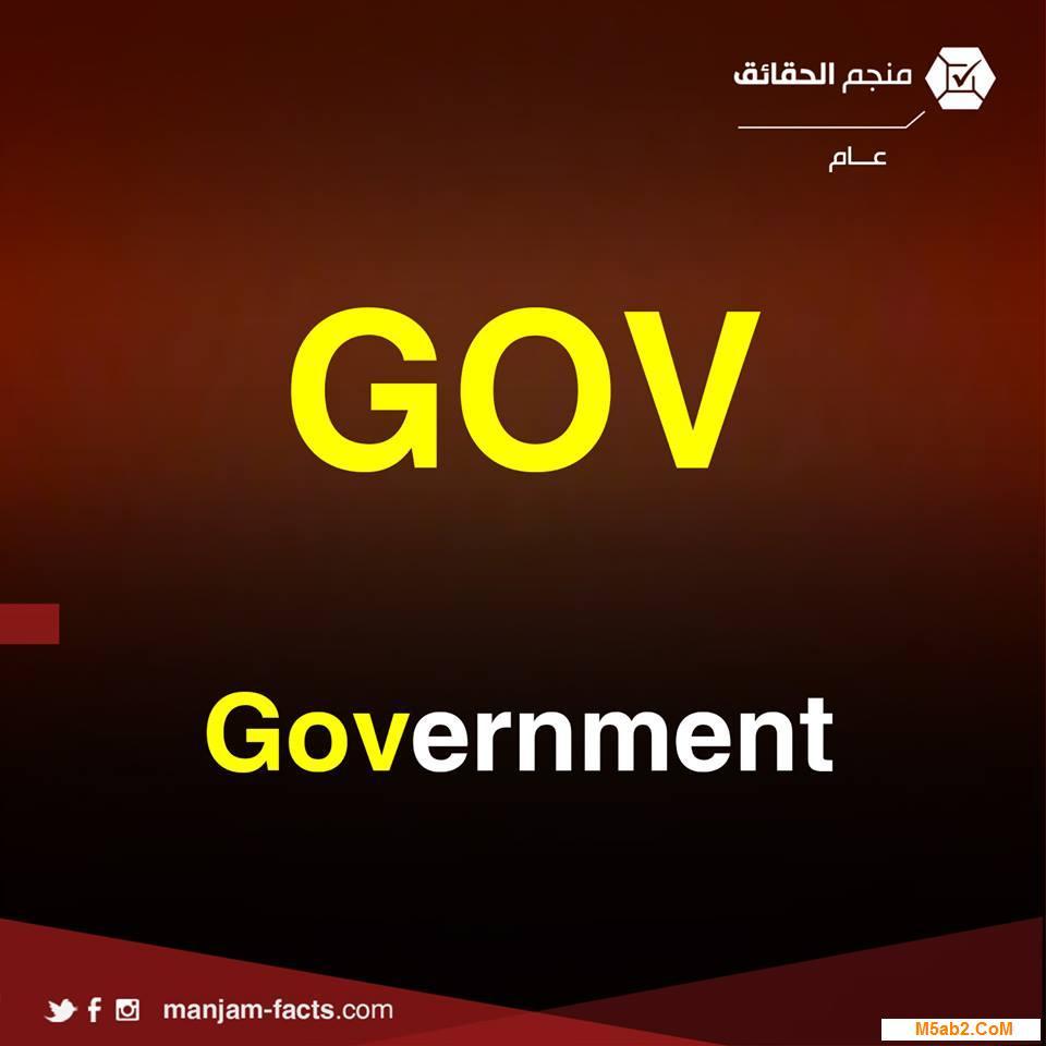 شرح معني اختصار gov