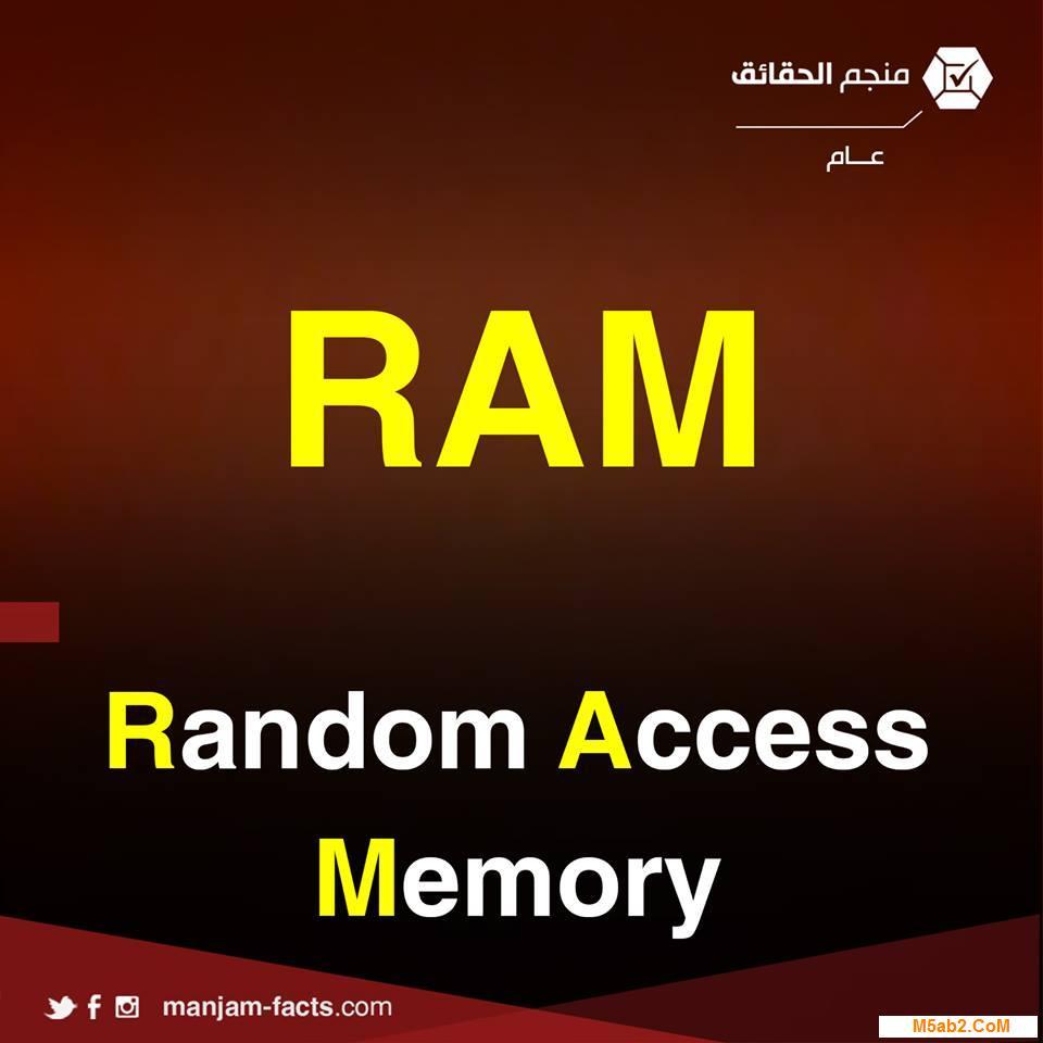 شرح معني اختصار ram