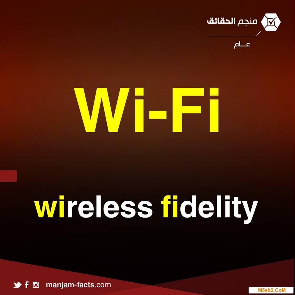 شرح معني اختصار wi-fi