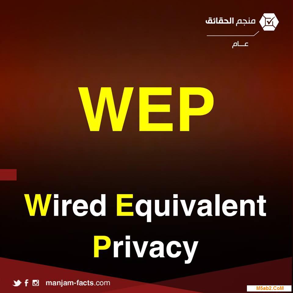 شرح معني اختصار wep